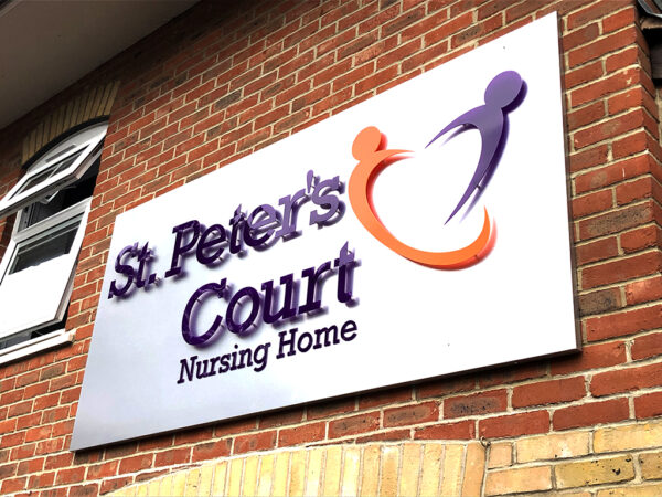 Maldon Sign for St. Peters Court